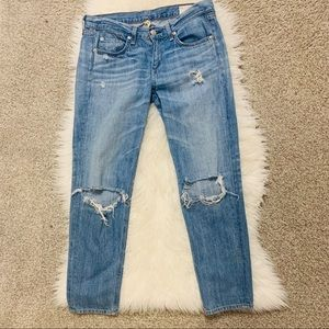 Rag & Bone distressed Boyfriend (Mom Jean)